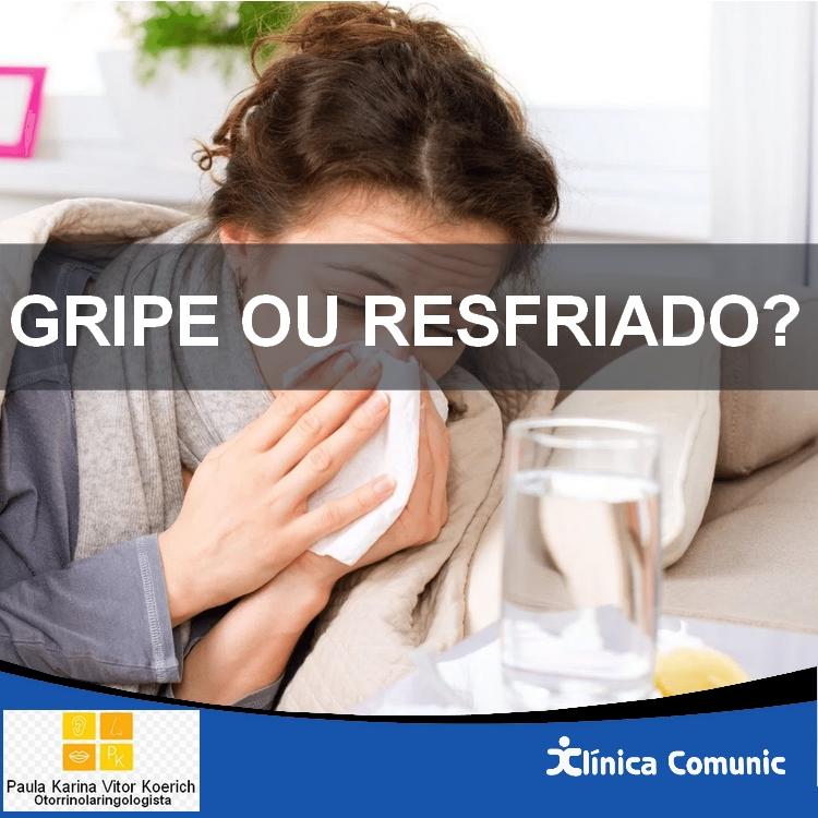 GRIPE OU RESFRIADO? 🤧